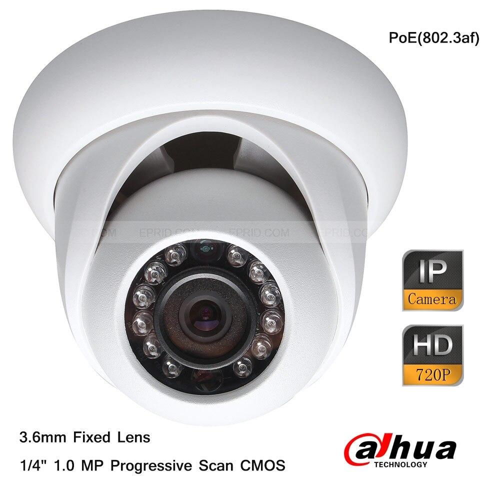 Dahua 1 Megapixel 720P HD Network IR 3.6mm Lens Mini Dome Indoor Camera PoE<br><br>Aliexpress