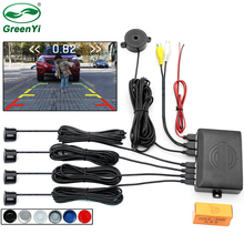 GreenYi Video Parking 4 Sensors Car Reverse Backup Rear Buzzer Radar Monitor System, Support Display Image and Sound Alert(China)