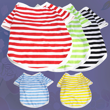 Hot!  Summer Pet Puppy Small Dog Cat Strip Style Casual Apparel Clothes Vest