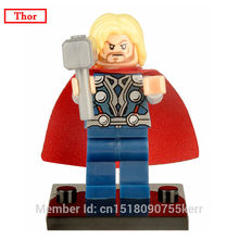 ZXZ Thor Mini Movie Dolls Bricks Single Sale Marvel Superheroes with Hammer The Avengers Building Block Sets Toys For Children