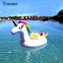 Tronzo 2017 Unicorn Cup Holder For Beverage Boats Phone Stand Floating Holder Weddding Decoration Party Supplies Inflatable
