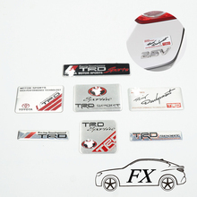 3D Modified Car badge Sticker Styling TRD Grille Emblem car styling for toyota Racing Car Logo JDM Hood Badge car-styling