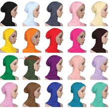 2017 New Arrival Designer Full Cover Inner Muslim Cotton Hijab Cap Islamic Head Wear Hat Underscarf Women Muslims Hat HM201