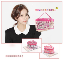 (10 Pcs/Lot) High Fashion Cute Gril Hello Kitty Canvas Pink Hot Pink Storage Bags,Best Gift For Lady,Wholesale Only