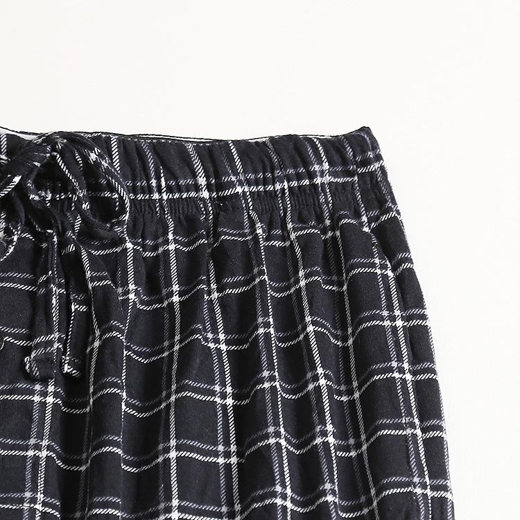 Mustad ruudulised pidžaamapüksid