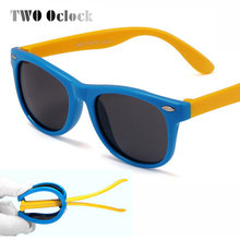 TWO Oclock Child TAC Polarized Sunglasses Kids Designer Sport Goggle For Girls Boys Shades Baby Glasses Oculos Infantil 1243