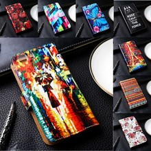 Flip PU Leather Phone Covers For Doogee Y100 Pro/F5/X5/X6/Homtom HT3 Cases With Card Holders DIY Painted TPU Case Inside Skins