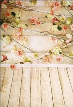 Lightweight Wooden Floor Flower  Photography Backdrop photo Studio Props Photography background Waterproof  CM-6698