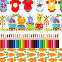 pick color size 16 25 38 50 75 mm width Baby Children Printed polyester Grosgrain Ribbon or Satin Ribbon B33
