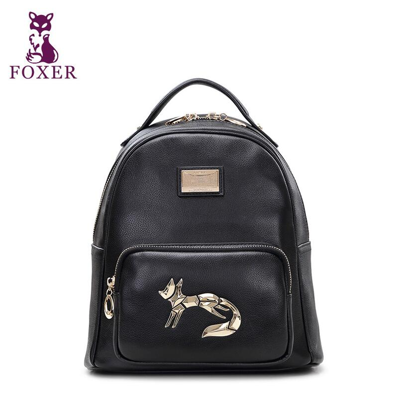 Women bag 2016 New FOXER brand women genuine leather backpack fashion quality women cowhide leisure backpack<br><br>Aliexpress
