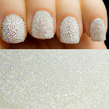 10g/bottle AB Color Nail Art Trend 0.6mm 0.8mm Nail Caviar Beads Micro Beads Fingernail Accessories Manicure Nail Decorations(China)