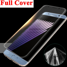 Full Coverage Soft TPU Film Screen Protector For Samsung Galaxy S6 S7 Edge Plus Note 7 Cover Curved Part (Not Tempered Glass)
