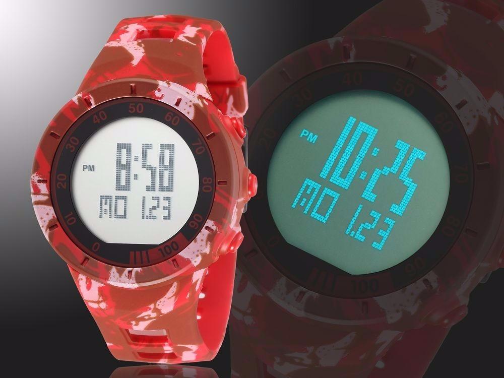 Digital LED Watch Army Green Men Sports Wristwatches Rubber Strap Waterproof Fashion Alarm Watch Clocks Stopwatches Reloj Hombre 4