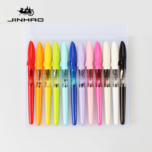 Buy NEW Arrival 12pcs/box JINHAO SHARK Series Candy Color Fountian Pen Cute Shark Cover 0.38mm 0.5mm Ink Pens Children Student for $15.80 in AliExpress store
