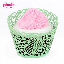 big leaf leaves flower lace laser hollow Cupcake wrapper, wedding party birthday decoration cupcake paper box 60pcs wholesale