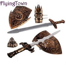 NEW Children Toys Swords Shiled Bow and Arrow Sword Shield Sucker Simulation Archery Plastic SwordsToy Set