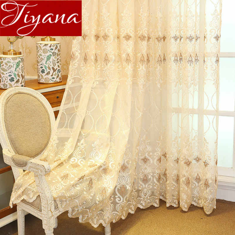 Net Curtain for Living Room Europe Luxury Sheer Voile Fabric for Window Bedroom Tulle Drape Customize Treatment M&072 #30