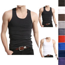 Muscle Men Top Quality A-Shirt Wife Beater Ribbed 100% Premium Tops(China)
