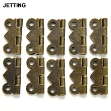 JETTING 10pcs 20x17mm Mini Butterfly Hinges Jewelry Gift Wine Box Wood Dollhouse Door Hinge Cabinet Drawer Jewelry DIY Repair