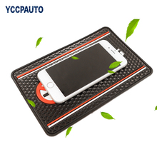 YCCPAUTO Car Sticky Non Slip Mat For Pad Phone Coin Sunglass GPS Holder NO SMOKING Words Silicon 200 x 130mm Anti-Slip Stand 1PC(China)