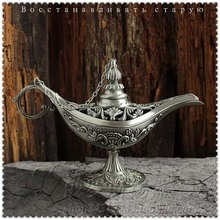 European Ancient Style Handicrafts Carved Tin Pewter Large Russian Lamp Home Decoration(China)