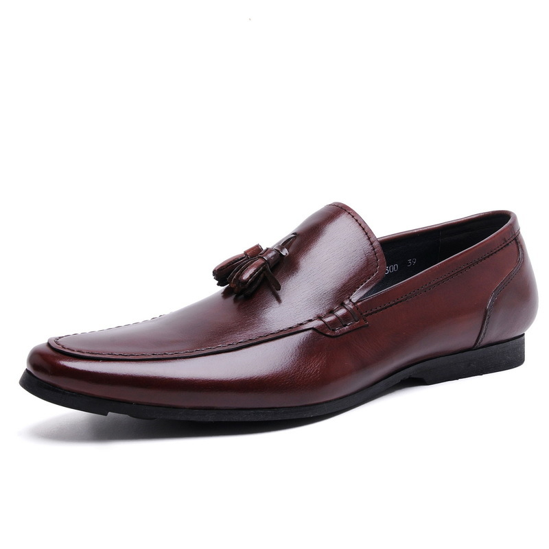 Mens Casual Shoes Luxury Genuine Leather Flats Business Formal Shoes Mens Dress Brogues Oxfords Monk Strap Shoes Zapatos Hombre<br><br>Aliexpress