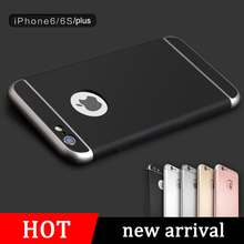 Hybrid Armor Back Case For Fundas iPhone 6 6s 6+ 6s plus Excellent Touch Feeling 3 in 1 Design Logo Window Hard Case Cover