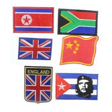 8*7CM National Flag Patriotic Stickers Mixed Patches Applique Army Badge For Clothing Accessories Backpack Decoration
