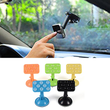 360 degree Car Phone Holder for Iphone 6 s Samsung Galaxy S8 Eight Points Silicone Sucker Type Navigation Car Phone Stand