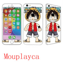 Mouplayca Case For iPhone 6 6splus 7 7plus Monkey D Luffy 360 turnkey TPU back front  Toughened membrane cover Phone case++gift