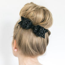 Women Hairpin Large Bowknot Barrette Crystal Hair Clip Bow Accessories Xmas Gift