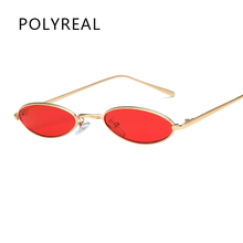 POLYREAL 2018 New Small Oval Steampunk Sunglasses Fashion Women Men Vintage Brand Designer Round Sun Glasses for Female Male(China)