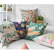 American village style Seat Cushion Simplicity Pastoral Cushions Home Decor flowers pattern Cushion Cover free shipping