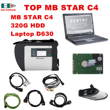 For Mercedes Benz OBD2 scanner MB STAR C4 and 2017 03 software HDD Laptop D630 full set MB STAR C4 obd 2 car Diagnostic tool DHL