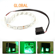 30cm Blue  red  green  white RGB warm white 18 LED Modding PC Case LED Strip 5050 SMD Light Molex Connector
