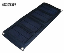 GGX ENERGY Foldable Solar Mobile Charger with High Efficient 7.2W Monocrystalline Solar Panel for iPhone Samsung