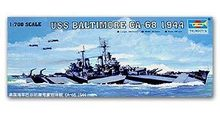 "Trumpeter 1/700 scale model 05725 US Navy CA-68 ""Baltimore"" Heavy Cruiser 1944(China)"
