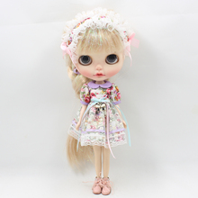 Fortune Days Blyth doll Mori Girl style Flower dress,Hair decoration,natural dressing Factory Blyth