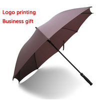 High quality golf umbrella of pongee and fibreglass, 8K, 27'in, logo can be printed as promotional/advertising gifts