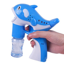 WEYA Little Dolphin Automatic Flashing Bubble Music Gun Machine Blowing Bubbles toy Colorful Soap Bubbles Kid Outdoor Toy(China)