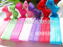 Wholesale 120pcs/lot 12colors Soft knotted elastic hair ties ponytail holder hair accessory