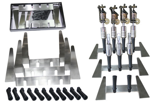 1PC Top Quality  stainless steel Tattoo Machine Gun Holder Stand Rack Rest Organzie Kit Supply For 3 Tatoo Machine Free shipping<br>