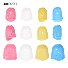 ammoon 12pcs Electric Guitar Fingertip Protectors Silicone Finger Guards for Ukulele Acoustic Guitar Bass 4 Colors Guitar Parts(China)