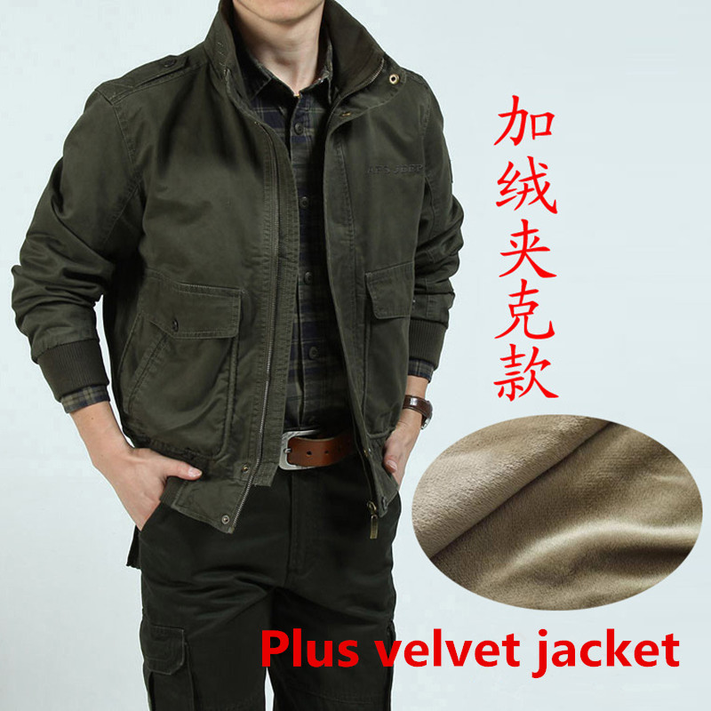 AFS ZDJP 2018 casual brand men Autumn And Winter cotton army green jacket coat man autumn khaki jackets coats