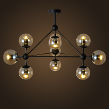 Magic round glass ball Vintage hanging light LED industrial beans droplight Mordern LOFT DNA retro classic pendant lamp light(China)