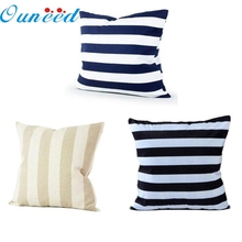 45x45 Cushion Cover Home Decor Striped Plain Square Pillow Cover Cushion Case Toss Pillowcase Hidden Zipper Closure jan17
