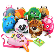 2017 New Pressure Shell Shoulders Backpack 3D Cartoon Child Cute Animal Kindergarten Baby  Bag Free Shipping