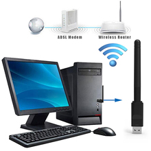 150Mbps USB2.0 WiFi RT5370 Wireless Networking Card LAN Adapter Dongle with Antenna
