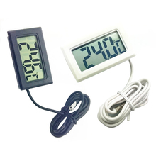 1Piece Electronic Digital Aquarium Water Thermometer  With Waterproof  Probe Black White Two  Optional