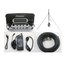 FU-7C 7W broadcast silver fm radio transmitter and 1/4 waveGP antenna with power adapter FREE Shipping(China)